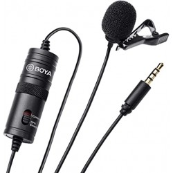Boya BY-M1 3.5mm Lavalier Clip Microphone For Smartphones &