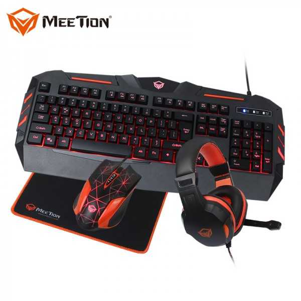 Meetion Pack Gaming Kits 4 En 1 C500
