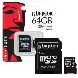 Kingston - Carte Mémoire Micro SD 64 Go Canvas Select SDHX